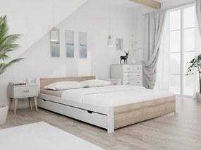 Maxi Drew IKAROS ágy 140x200 cm, fehér Ágyrács: Ágyrács nélkül, Matrac: Deluxe 15 cm matraccal