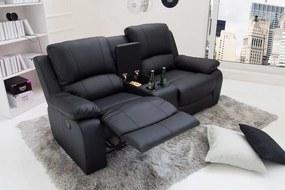 Stílusos kétüléses fotel Movie II fekete műbőr