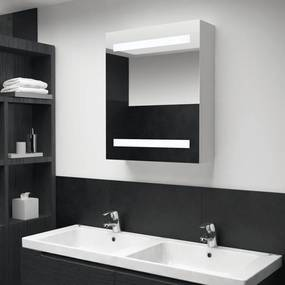 vidaXL tükrös fürdőszobaszekrény LED világítással 50 x 14 x 60 cm