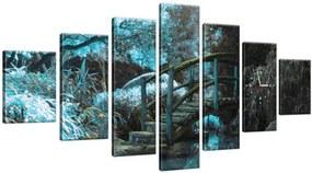 Órás falikép Kék japán kert 210x100cm ZP2547A_7A