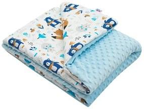 NEW BABY | New Baby Pillangók | Gyermek pléd Minky New Baby Maci kék 80x102 cm | Kék |