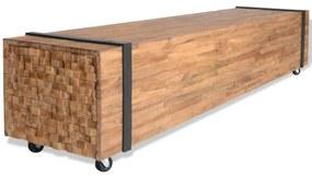 vidaXL tömör tíkfa TV-szekrény 150 x 30 x 30 cm