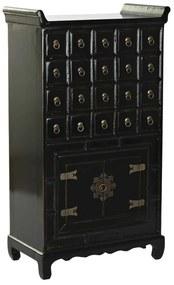 Keleties 20 fiókos szekrény fekete