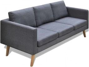 Sötétszürke 3 személyes szövet kanapé