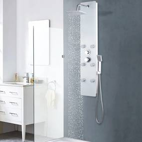 vidaXL fehér üveg zuhanypanel 25 x 44,6 x 130 cm
