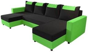 COOPER U ágyazható sarok ülőgarnitúra, 298x144, rainbow 15/rainbow 62