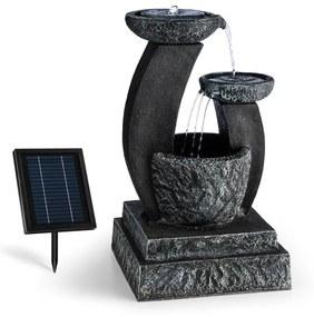 Fantaghiro, díszszökőkút, kerti szökőkút, 3W, napelemes, LED polireszin, kő hatás