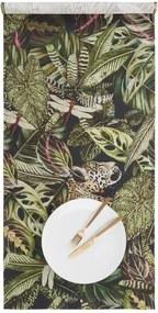 ESCAPE pamut asztali futó, dzsungel 150x50 cm