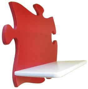 Puzzle gyerek polc (piros-fehér)