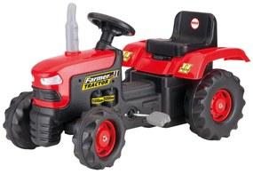 Dolu nagy pedálos traktor, piros