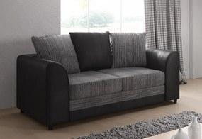 DYLAN 2 kanapé, jumbogrey+viperblack