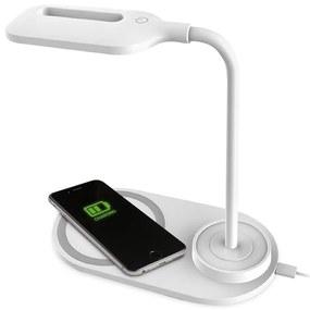 Platinet LED Asztali lámpa LED/3W/5V vezeték nélküli töltéssel fehér PL0117