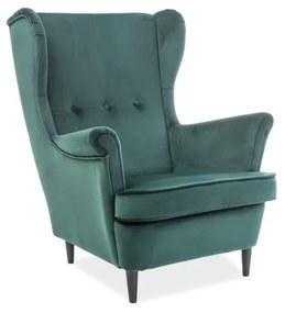 ARISTO Velvet fotel, 81x101x85, bluvel 78