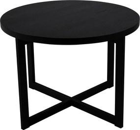 Elliot fekete tölgyfa tárolóasztal, ø 70 cm - Canett