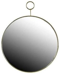 Kerek tükör, aranyozott fém kerettel
