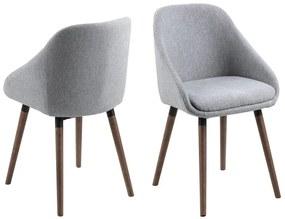Stílusos szék Almeisan - világos szürke