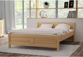 ANGEL magasított ágy + matrac + ágyrács AJÁNDÉK, 120x200 cm, tölgy-lakk