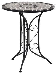 vidaXL szürke kerámia mozaikos bisztróasztal 61 cm