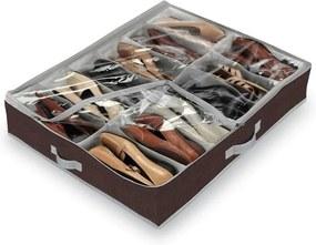 Classic barna 12 rekeszes cipőtároló - Domopak