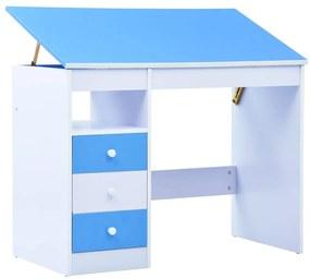 vidaXL kék és fehér dönthető gyerekíróasztal