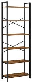 Vasagle 6-szintes könyvespolc, tároló polc