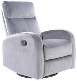 ASKIO Velvet fotel, 72x101x80-160, bluvel 14