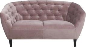 Stílusos kettes fotel Nyree világos rózsaszín