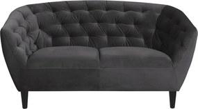 Stílusos kettes fotel Nyree sötét szürke