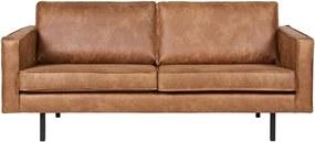 Rodeo barna kanapé, újrahasznosított bőrhuzattal, 190 cm - BePureHome