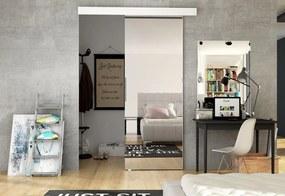 DOLANO II tolóajtó tükörrel, 86,5x205, fehér