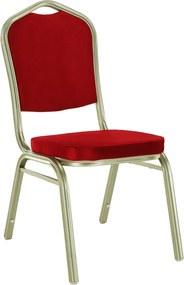 Egymásba rakható szék, bordó/champagne, ZINA 2 NEW