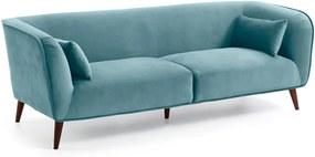 Olost türkizzöld bársony hatású kanapé - La Forma