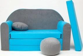 Gyerek kanapé Misty - szürke/kék B1 + Sofa gray-blue