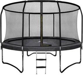 Deluxe trambulin 244cm es biztonsági hálóval és létrával