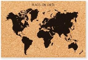 Earth dekorációs parafatábla - Really Nice Things