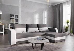 WELTA ágyazható sarok ülőgarnitúra, 237x85x140, szürke/fehér, mikrofáze10/fehér