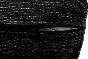 Ülőgarnitúra, fekete/fekete melír, TONIKS