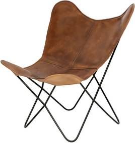 Farfalla barna bőr pillangó alakú szék - sømcasa