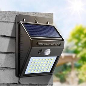 Mozgásérzékelős napelemes LED világítás - Költségmentes és környezetbarát üzemeltetés, egyszerű használat!