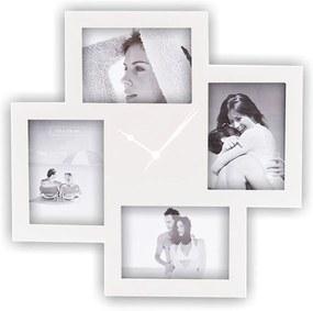 Collage fehér falióra képkerettel - Tomasucci