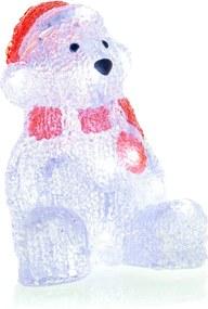Retlux RXL 252 karácsonyi dekoráció, jegesmedve, akryl, 16 LED, hideg fehér